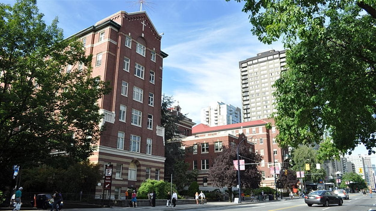 L'hôpital St Paul au centre-ville de Vancouver.