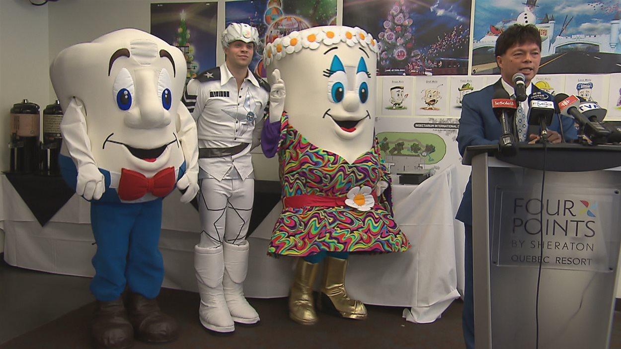 Perry Wong a présenté son projet de parc thématique qui compterait plusieurs mascottes.