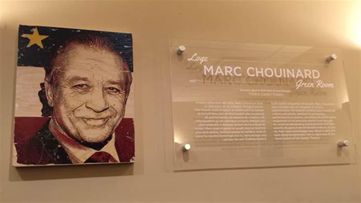 La loge des artistes du Théâtre Capitol s'appelle dorénavant Loge Marc Chouinard Green Room.
