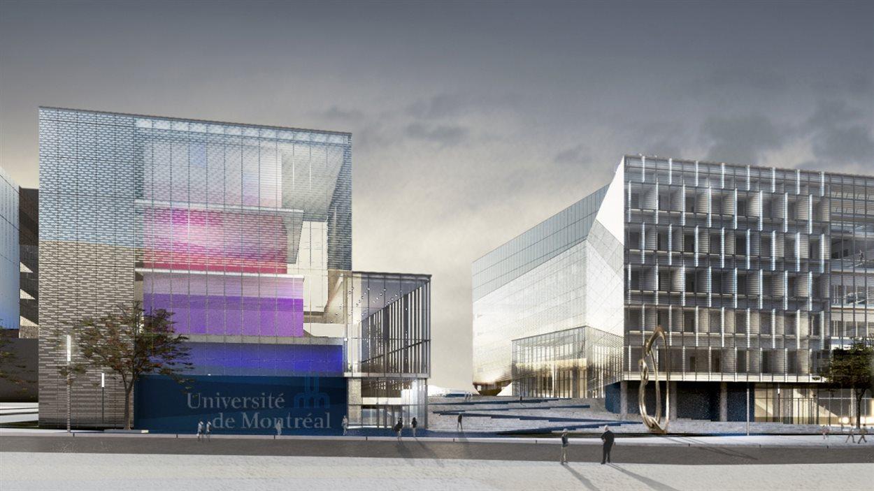 Le futur Complexe des sciences de l'Université de Montréal, tel qu'imaginé par les architectes de NFOE