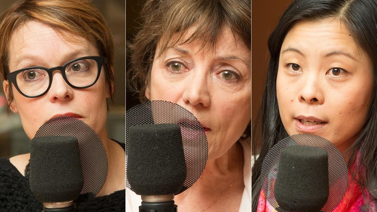 Martine Delvaux, Francine Pelletier et Cathy Wong