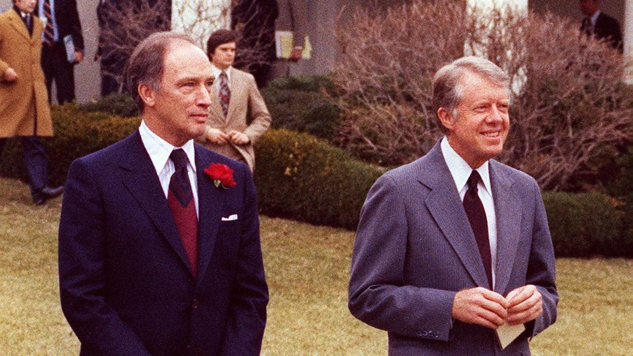 Pierre Elliott Trudeau et Jimmy Carter, Washington, 1979.