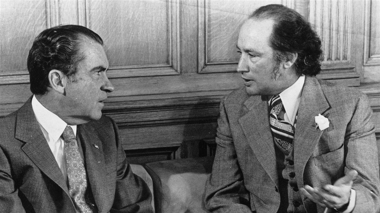 Richard Nixon et Pierre Elliott Trudeau, Ottawa, 1972.
