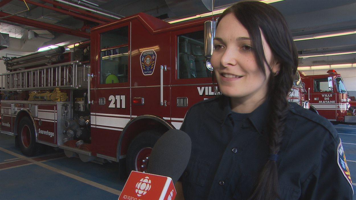 Nathalie Lévesque, pompière, Matane