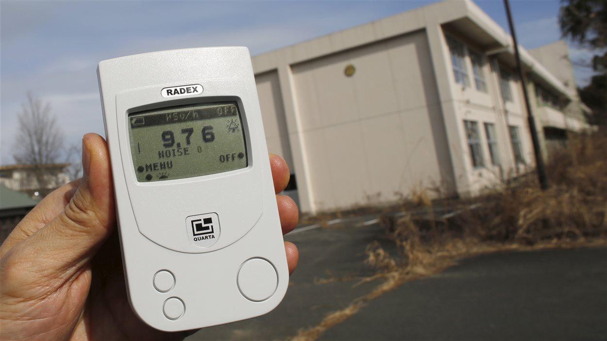 Une école primaire dans la zone d'exclusion à Okuma, près de la centrale nucléaire Daiichi à Fukushima, qui a été détruite par le tsunami, le 13 février dernier.
