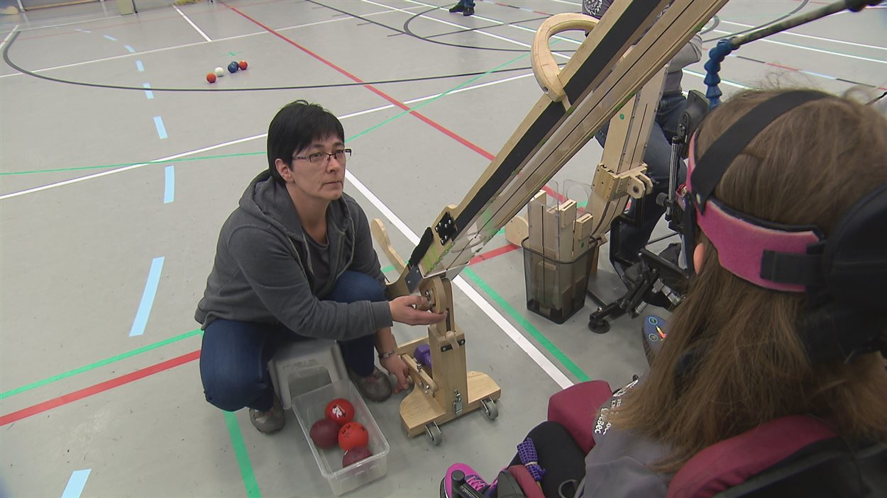 On the 15-year-old boccia world championships