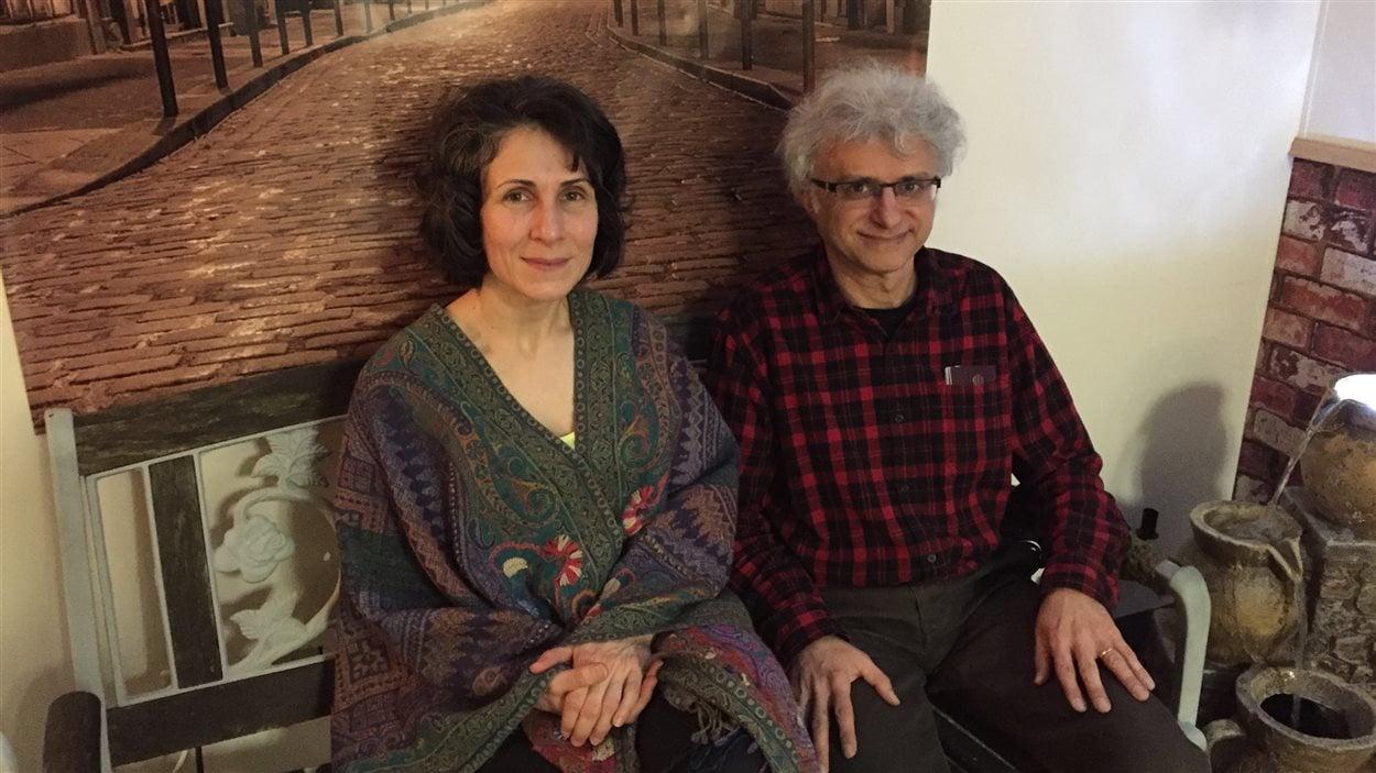 Siamak Ebrahimi avec sa femme Nasrin