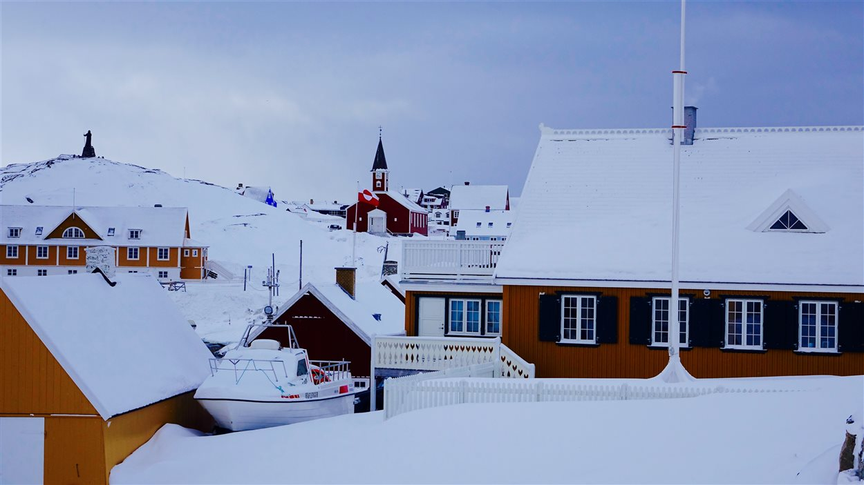 Un paysage du Groenland, en mars 2016