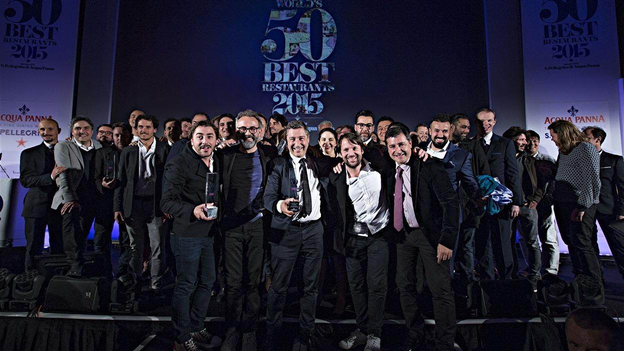 Les chefs et propriétaires gagnants du guide <i>The World's 50 Best Restaurants</i> en 2015