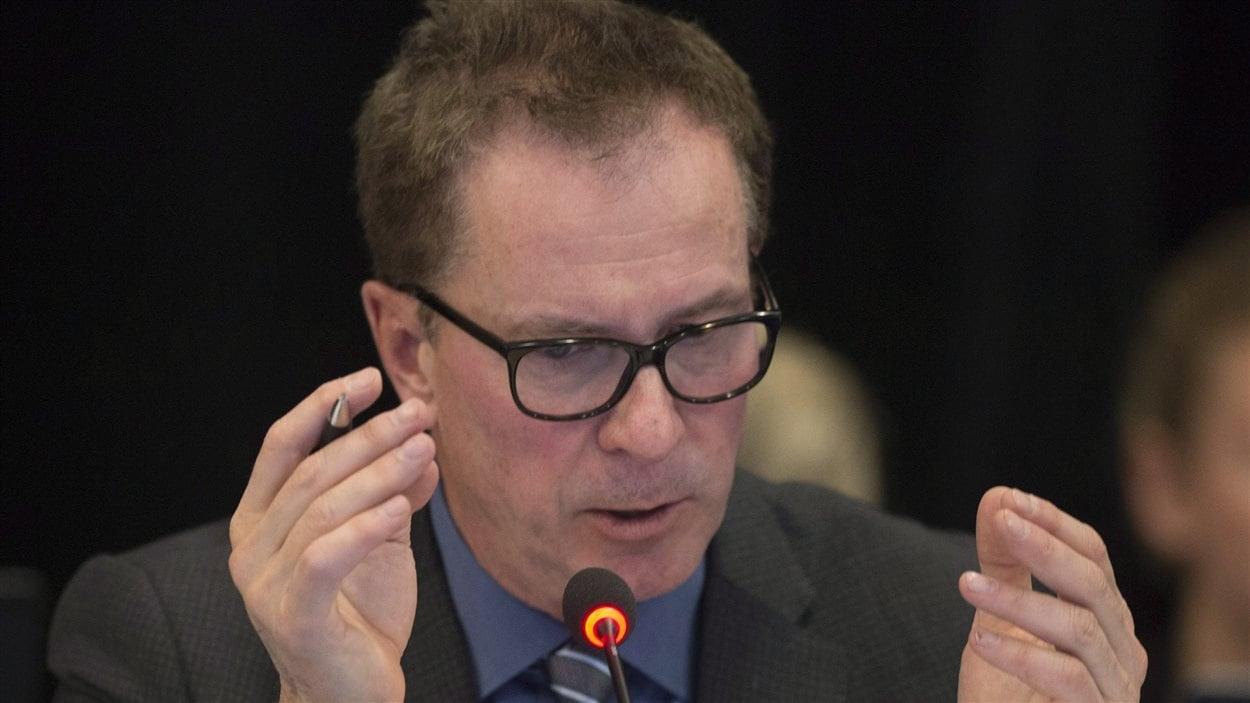 Louis Bergeron, vice président d'Énergie Est pour le Québec