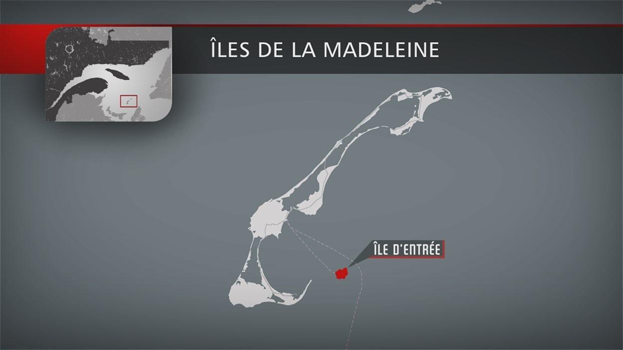 L'île d'Entrée mesure 7 kilomètres carrés