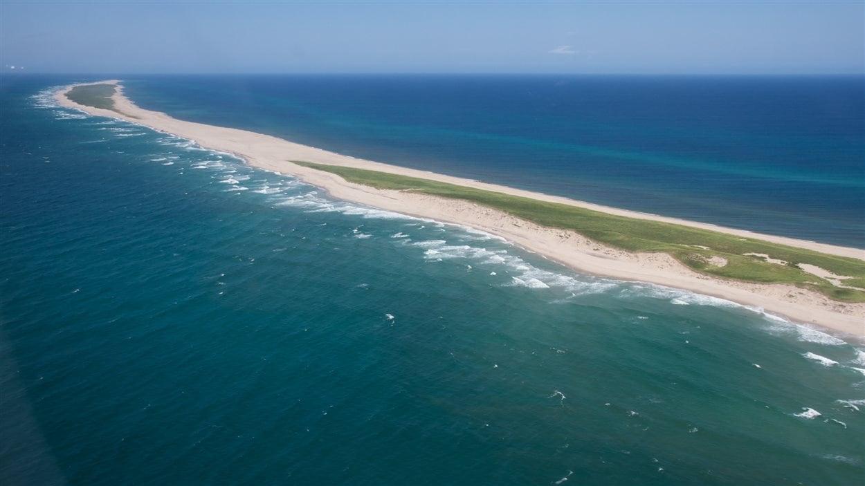 L'île de Sable est une bande étroite de terre de 42 km de long, à 300 km des côtes de la N.-É.