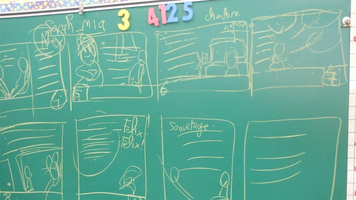 Le plan du livre élaboré par des élèves de l'école Norjoli.