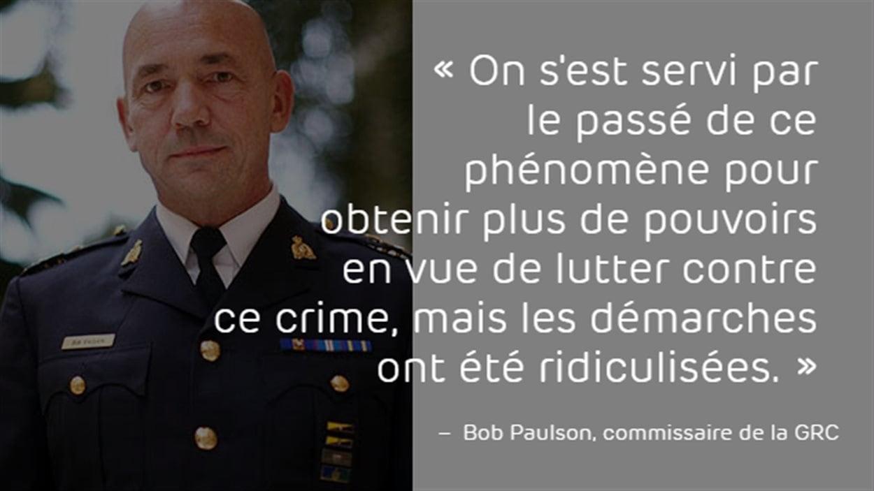 Bob Paulson, le patron de la GRC.