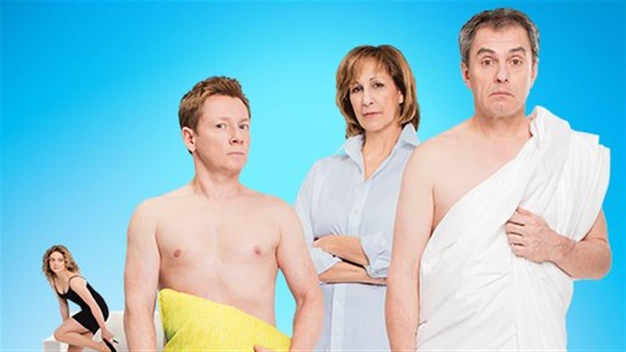 La distribution de la pièce « Deux hommes tout nus »