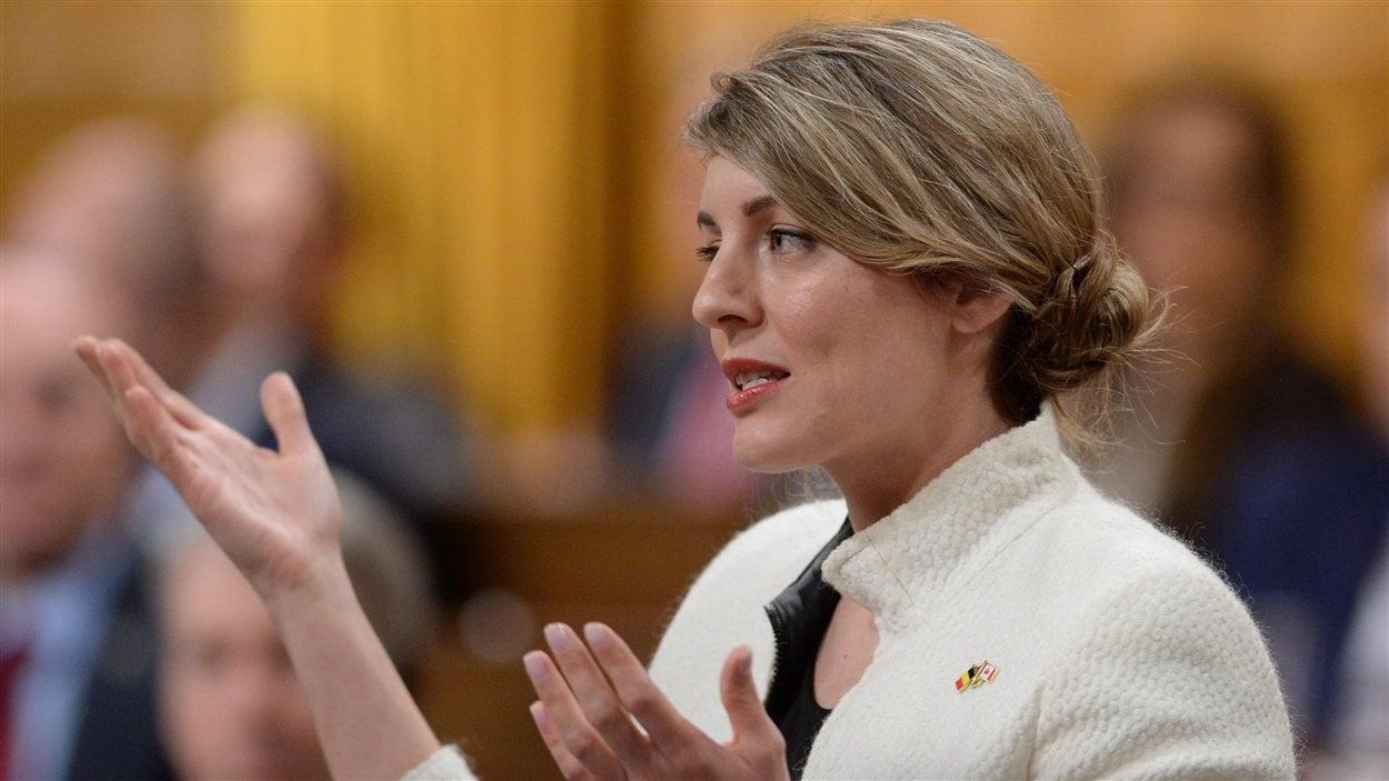 La ministre fédérale du Patrimoine, Mélanie Joly, à la Chambre des communes