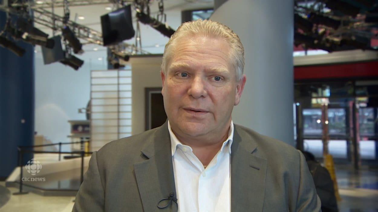 Doug Ford en entrevue à CBC