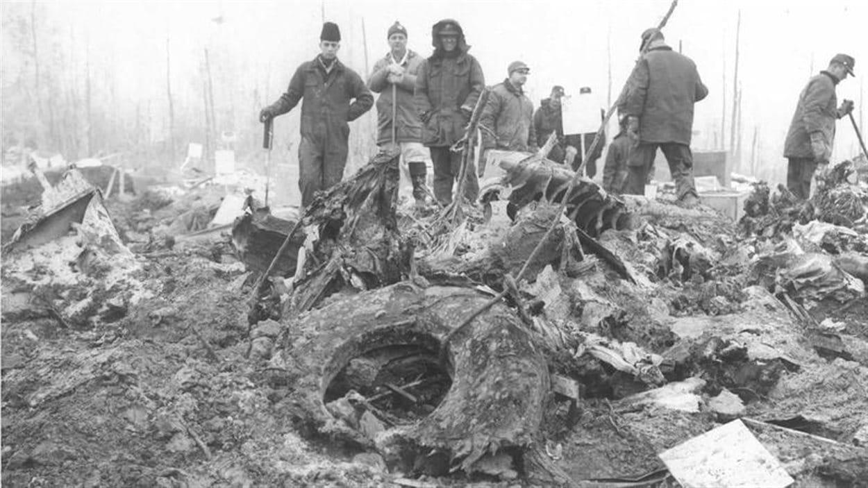 Lieux de l'écrasement d'avion survenu à Sainte-Thérèse-de-Blainville, au Québec, en 1963.