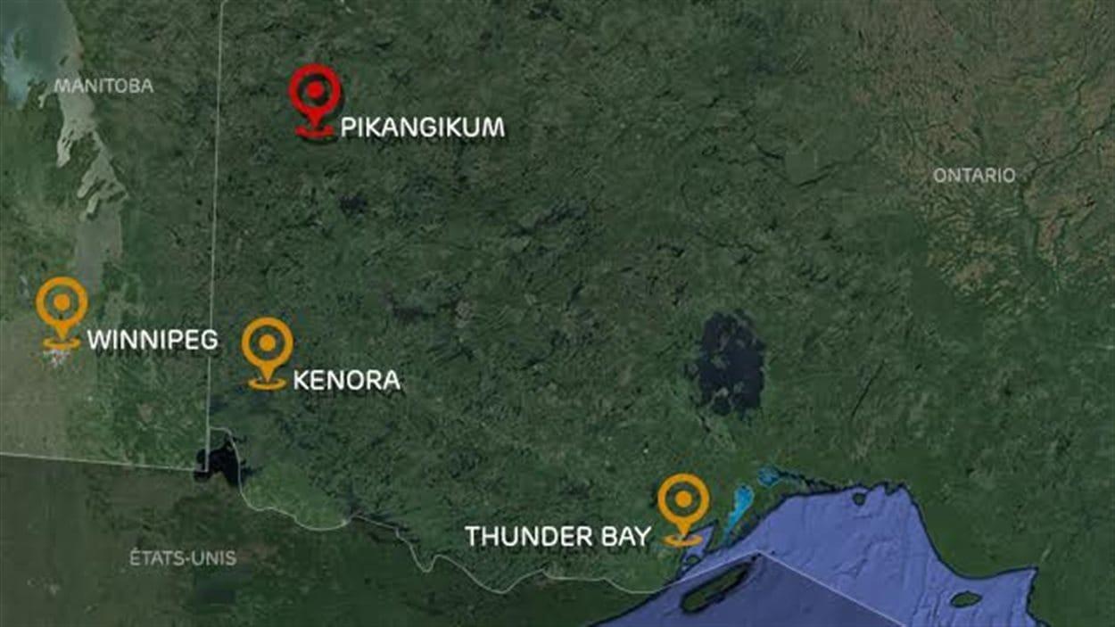 La communauté de Pikangikum au nord-ouest de Thunder Bay.
