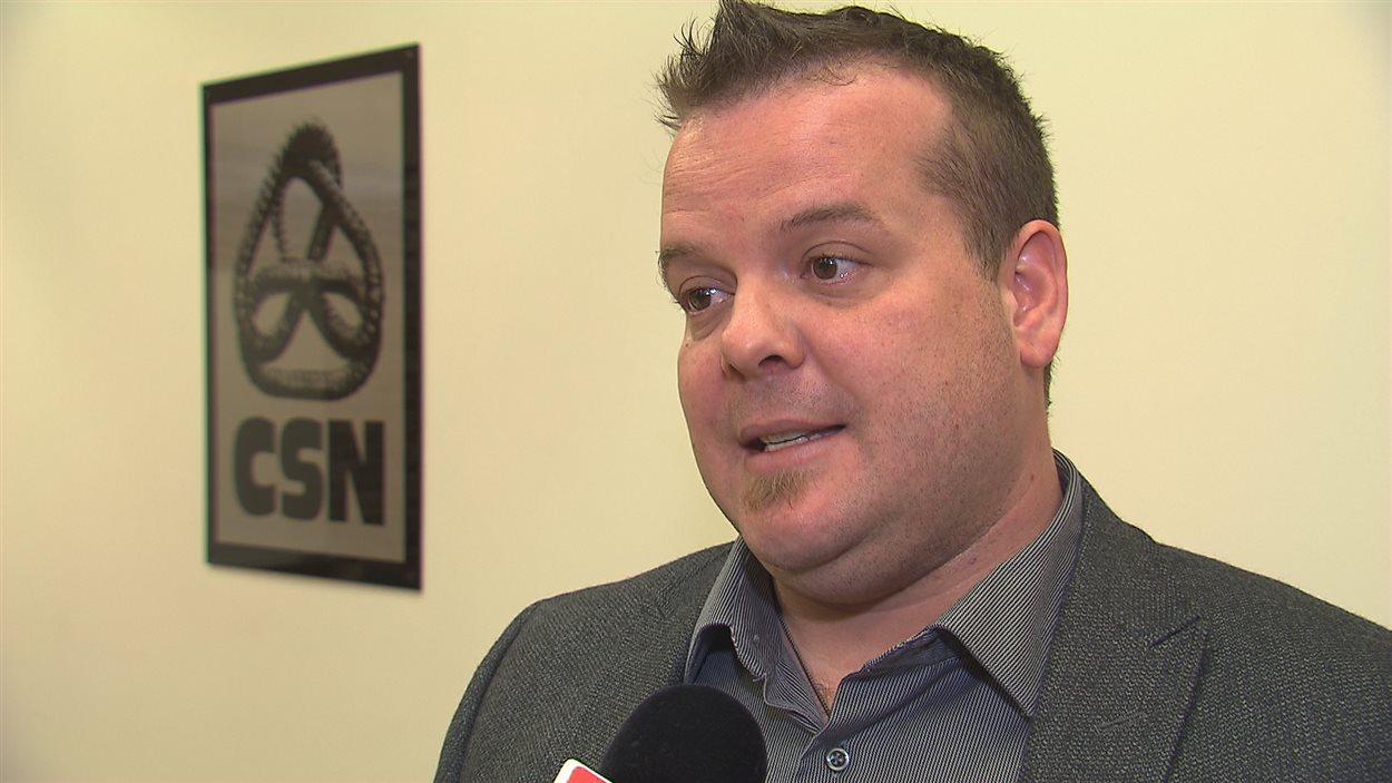 Steve Lemieux, président du syndicat du personnel du Centre jeunesse de l'Estrie