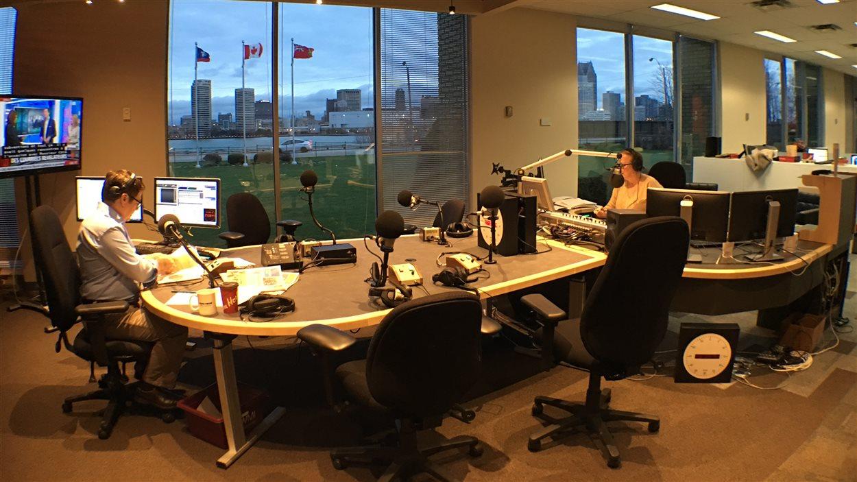 Nouveau studio à aire ouverte de Radio-Canada à Windsor