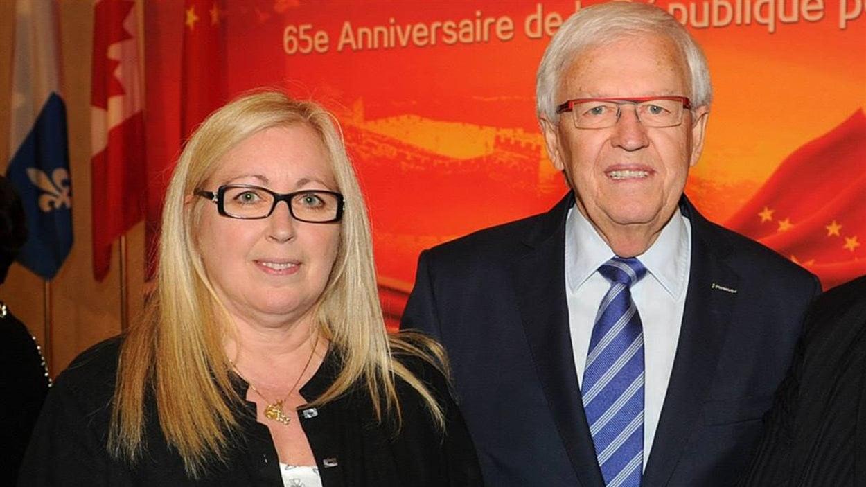 Le maire de Brossard, Paul Leduc, et sa conjointe Louise Plante.