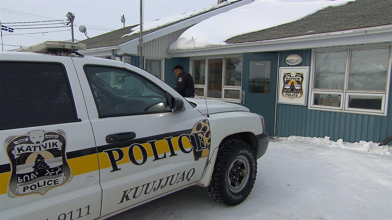 Le poste de la Police régionale Kativik, à Kuujjuaq.