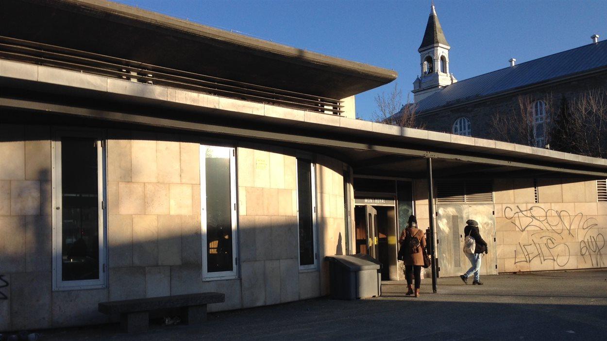 L'édicule actuel de la station Mont-Royal