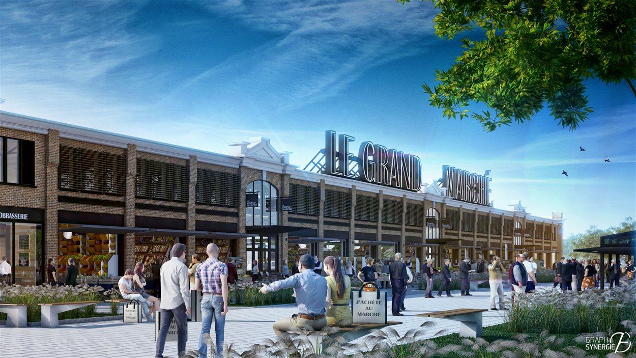 Le futur marché public prendra place dans le Pavillon du commerce.