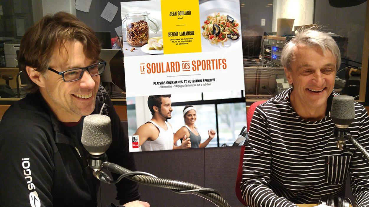Benoît Lamarche et Jean Soulard, auteurs du livre <em>Le Soulard des sportifs</em>