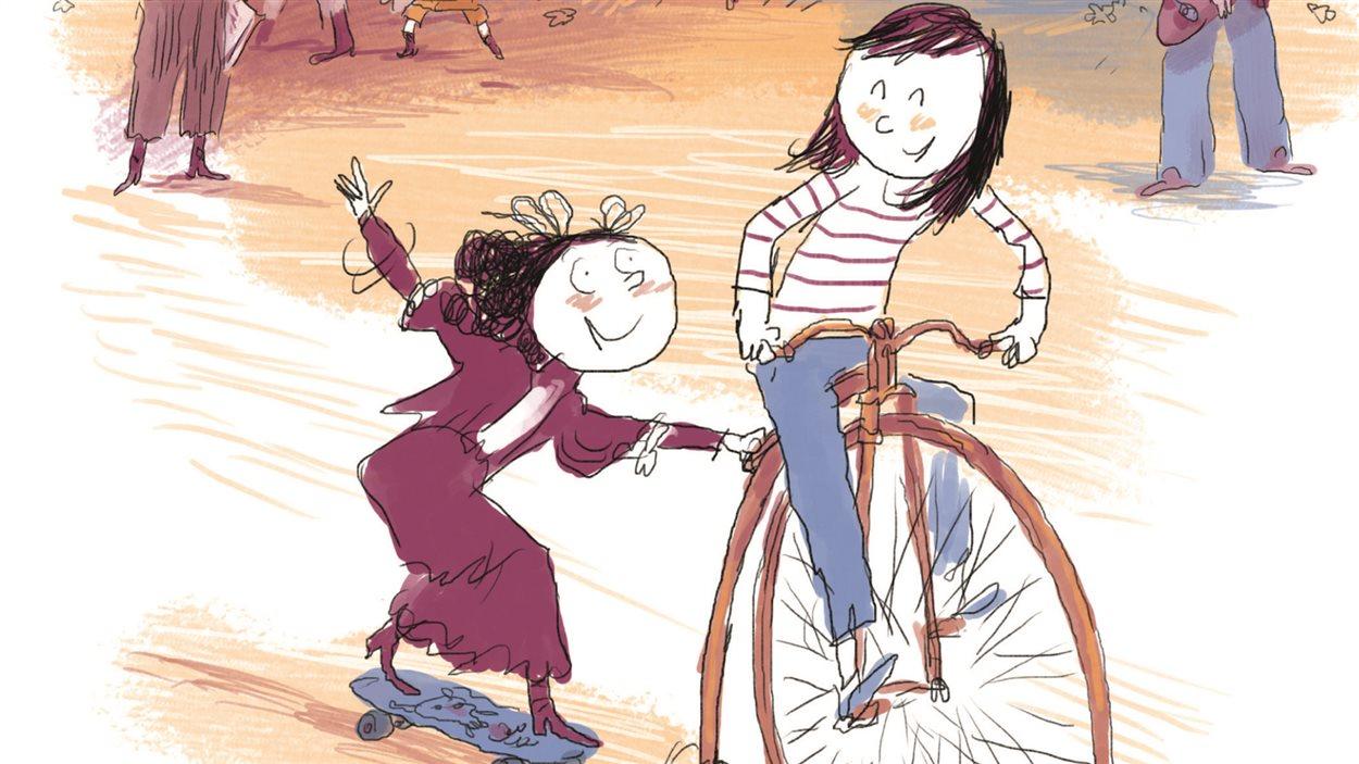 Détail de la couverture du «Temps des Marguerite» de Vincent Cuvellier et Robin