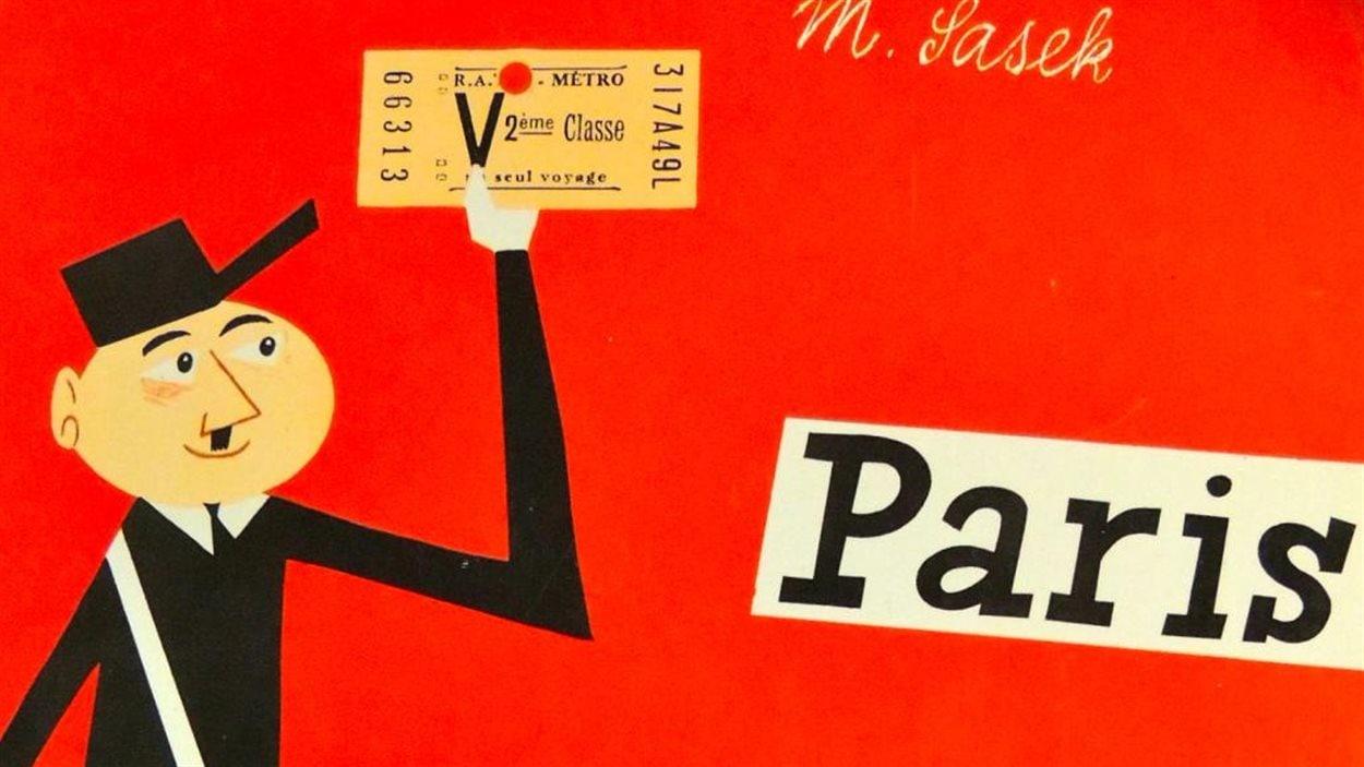 Détail de la couverture de «Paris» de Miroslav Sasek