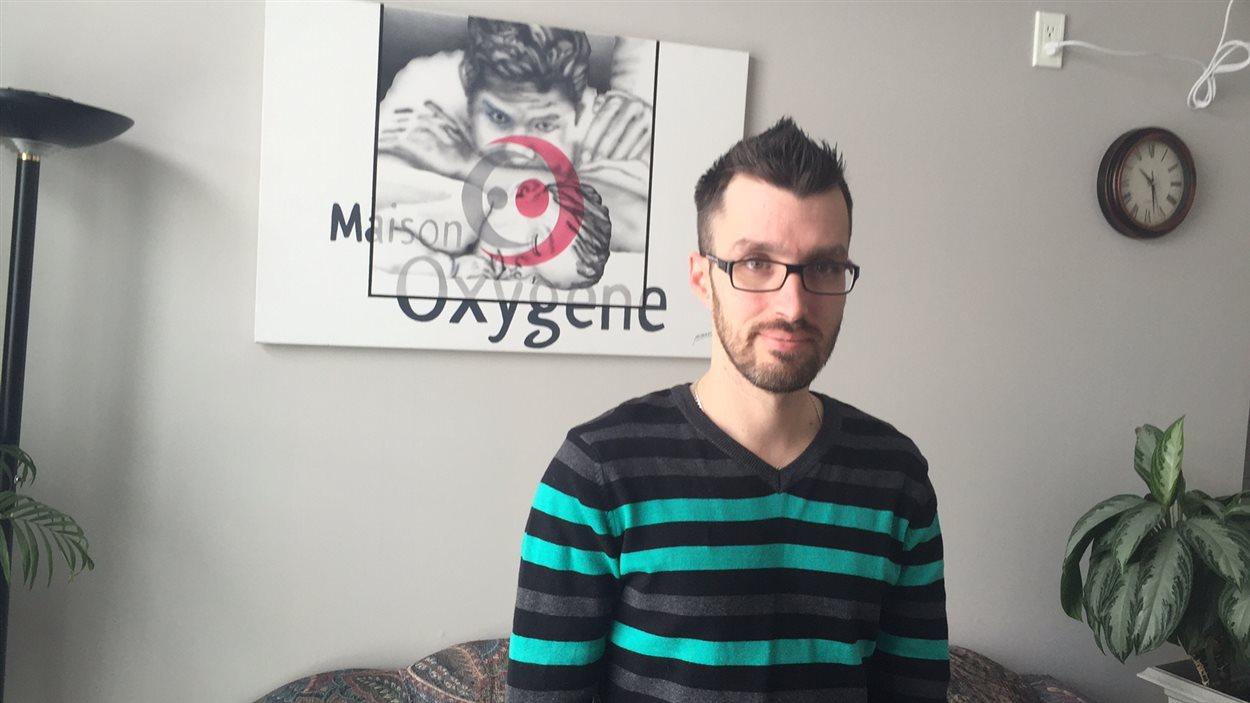 Le directeur général de la Maison Oxygène de Ville-Marie, Tommy Cousineau