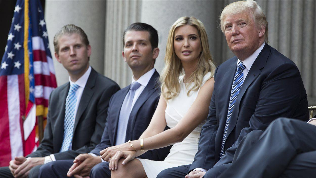 De gauche à droite, Eric, Donald Jr, Ivanka et Donald Trump
