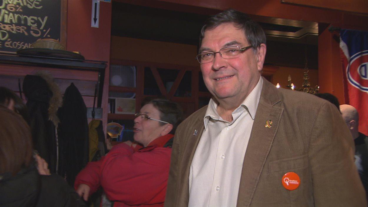Le candidat de Québec solidaire, Pierre Dostie