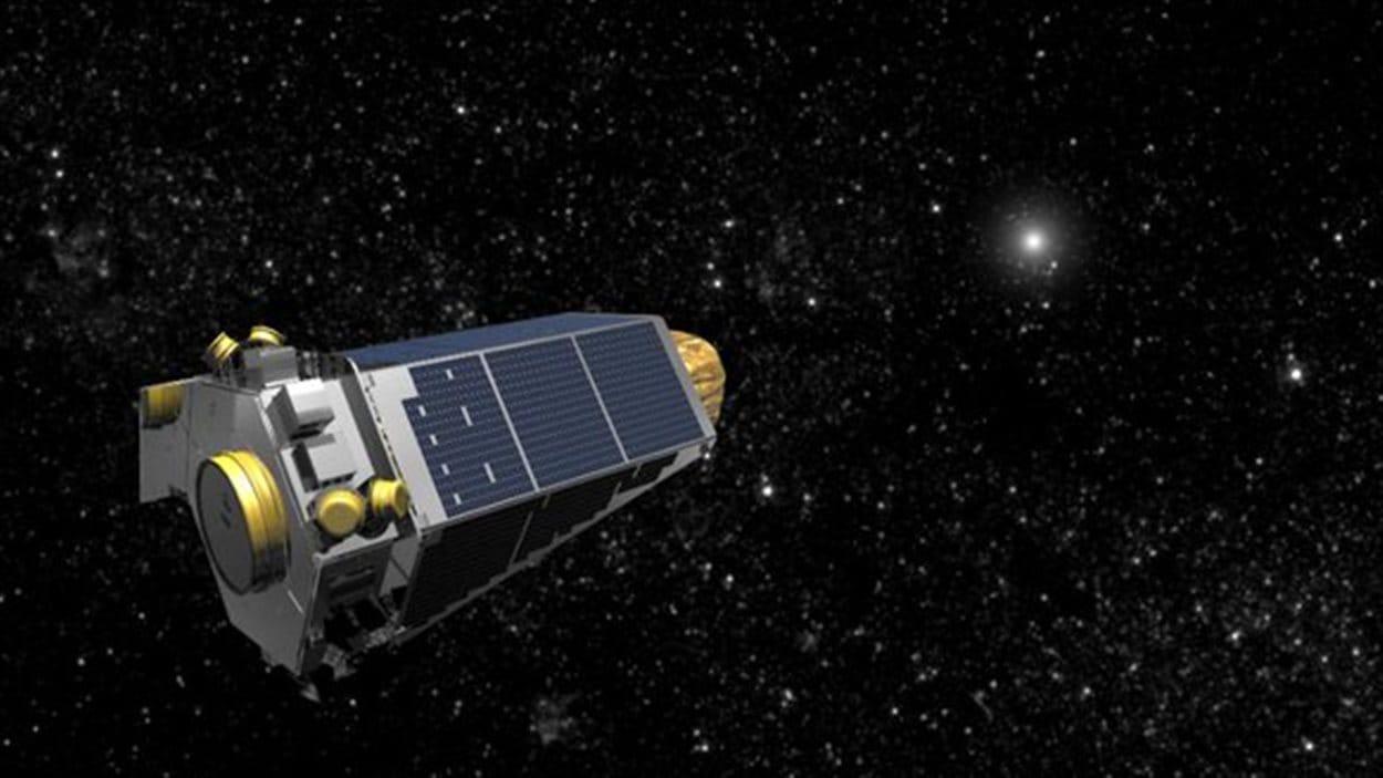 Représentation artistique du télescope Kepler