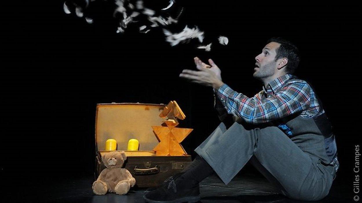 La pièce de théâtre Où on va papa? de Xavier Carrar et mise en scène par Layla Metssitane