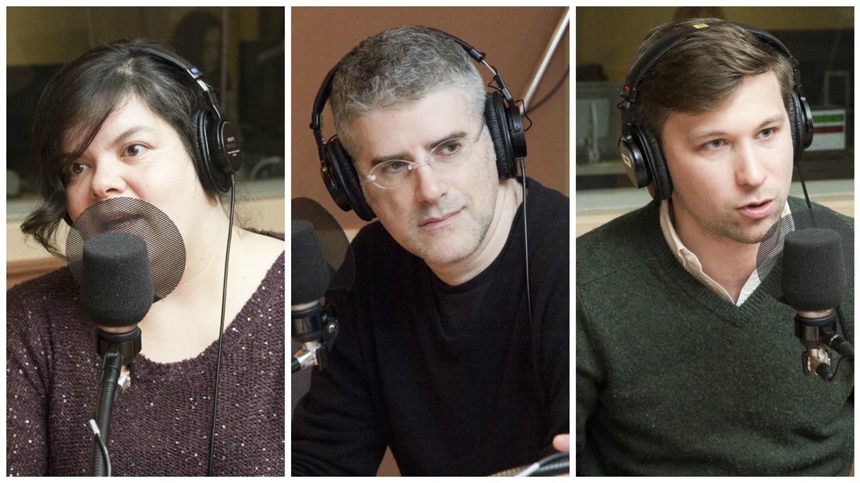 Melissa Mollen Dupuis, Marcos Ancelovici et Gabriel Nadeau Dubois.