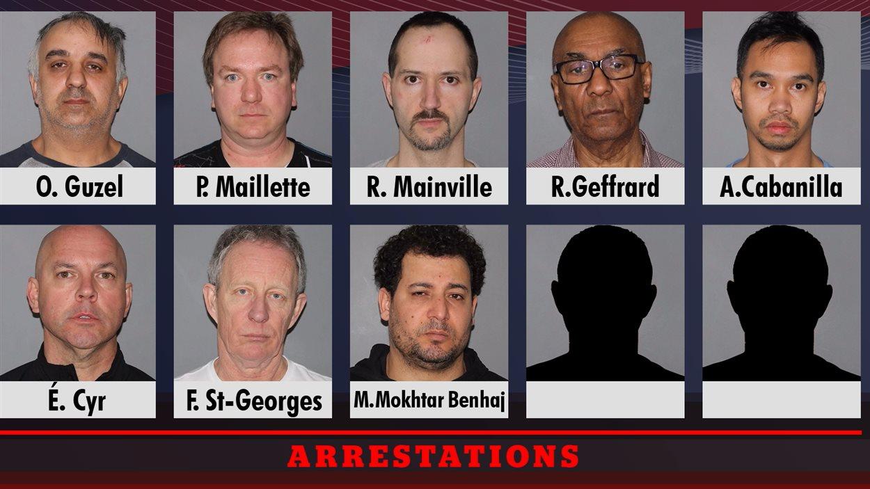 Huit hommes soupçonnés d'avoir tenté d'obtenir des services sexuels de mineures ont comparu devant la justice  à Laval.