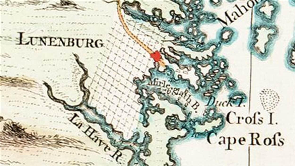 Ancienne carte de Lunenburg