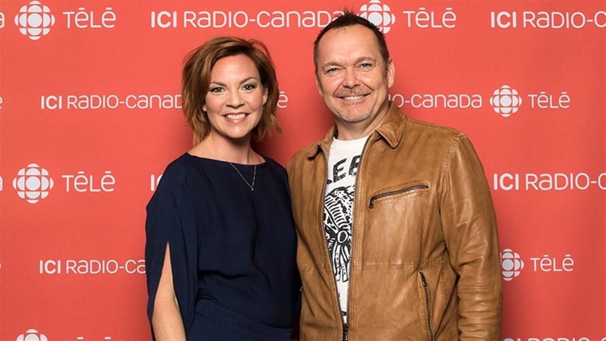 Catherine Proulx-Lemay et Jean-Michel Anctil de la télésérie « Mes petits malheurs »