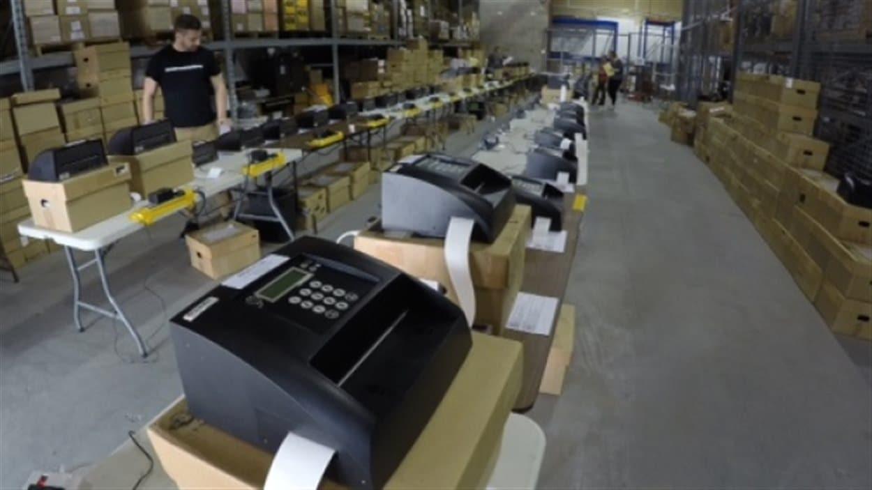 Les tabulateurs, ou machines de vote électronique qui seront déployés pour les élections municipales au N.-B.