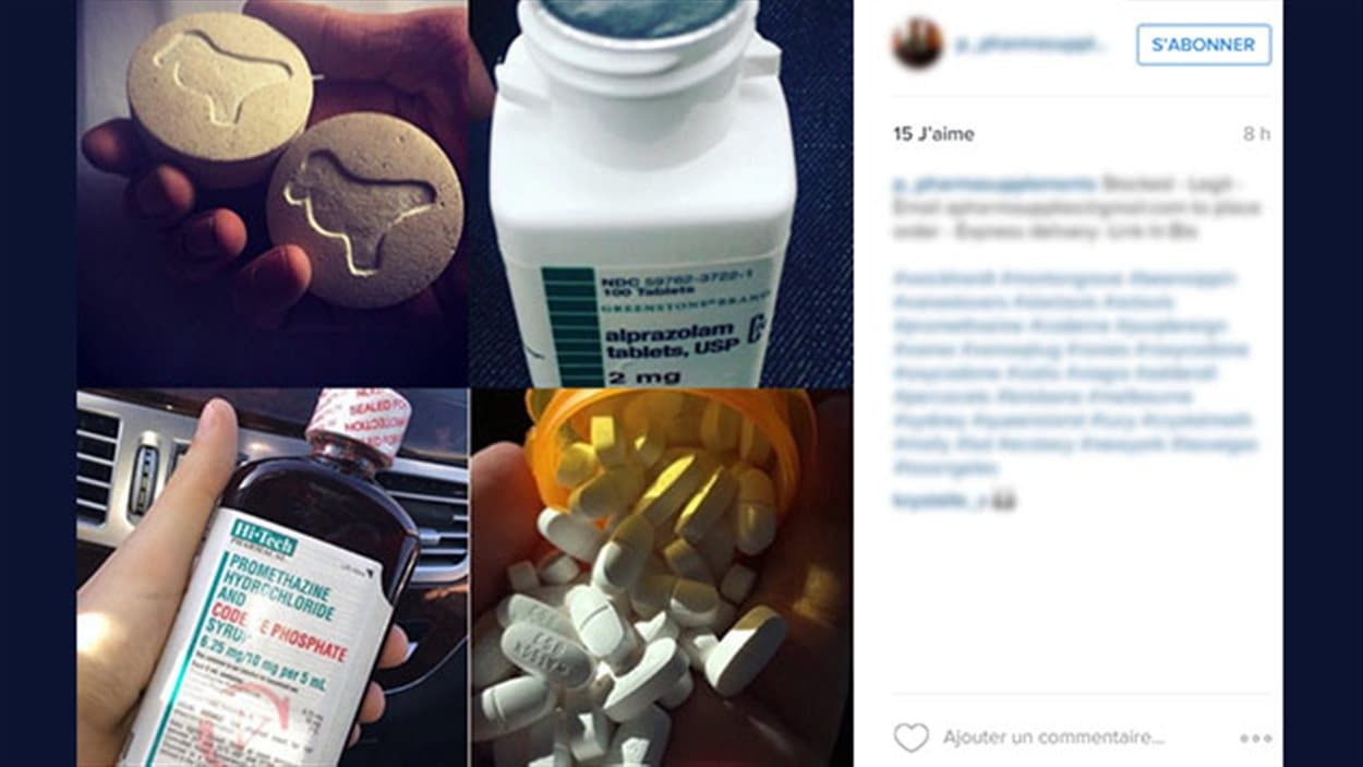 Ce trafiquant offre de la drogue sur Instagram.
