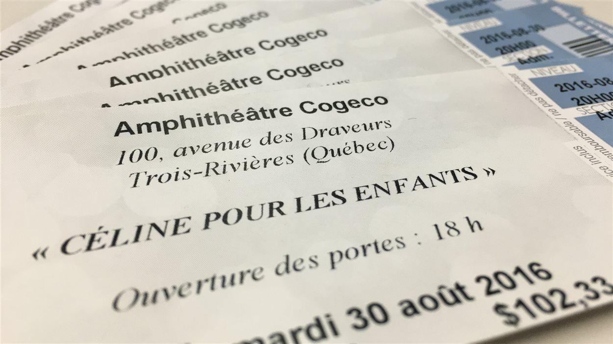 Des billets pour le spectacle de Céline Dion à Trois-Rivières