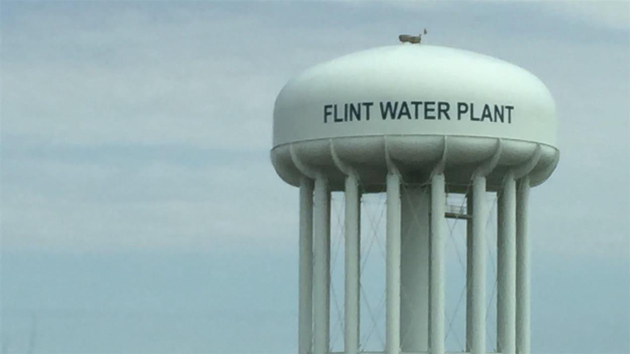 Château d'eau de Flint au Michigan