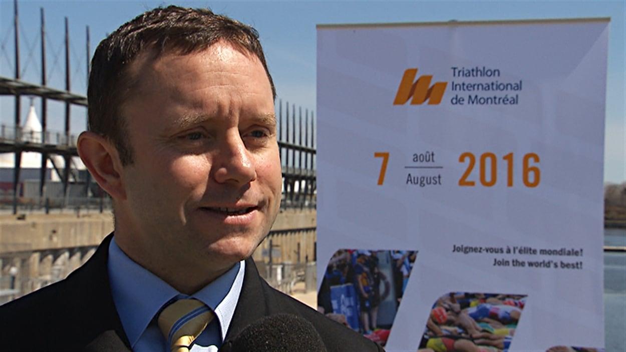 Patrice Brunet, président du Triathlon international de Montréal