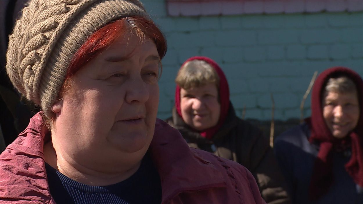 Natasha Spiridonova, résidente du village de Novozybkov, contaminé par les radiations de la catastrophe nucléaire de Tchernobyl