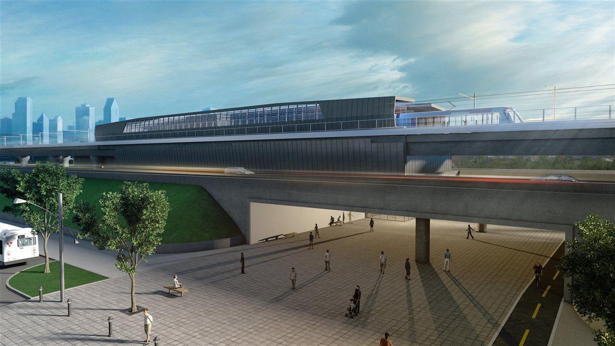Un projet de système léger sur rails (SLR) pour Montréal été annoncé aujourd'hui par la Caisse de dépôt et placement du Québec (CDPQ).