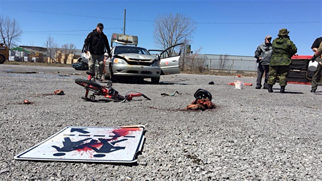 Une simulation d'attentats terroristes à Trois-Rivières.