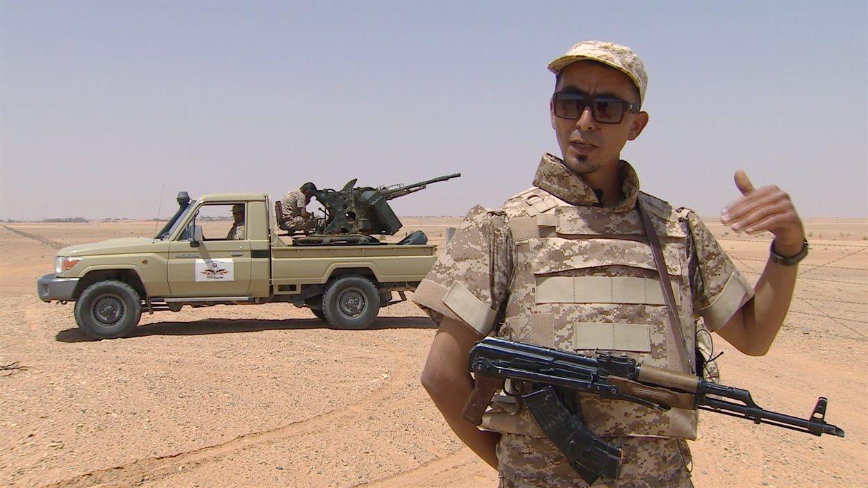 Omar Zouhair, commandant de poste en Libye